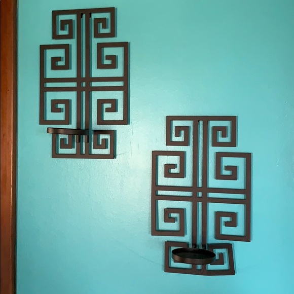 PartyLite wall sconce set